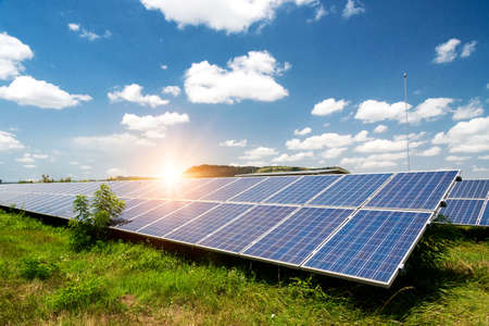Solar panel, photovoltaic, alternative electricity source - concept of sustainable resources