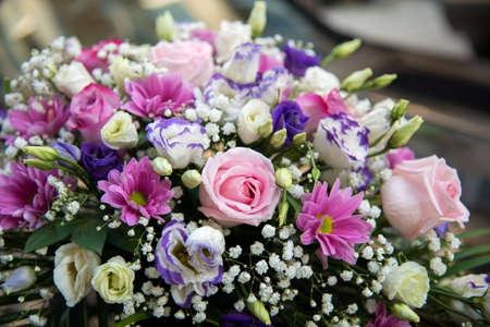 wedding decoration of flowers - selective focus