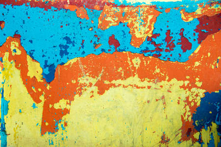 abstract background of peeling paint on old wooden boat 版權商用圖片