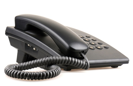 Telefoon geïsoleerd op wit