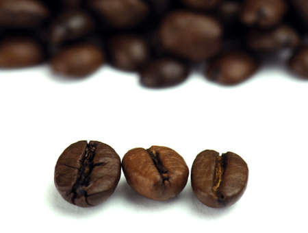 Freshly roasted coffee beans photo