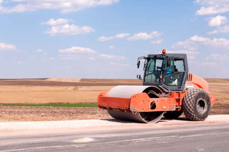 Support activities for the construction of a highway  Road under construction