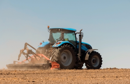 Agricultural activities, modern farm equipment in field Stock Photo - 14857757