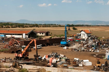 Depot for scrap metal Stock Photo - 14857761