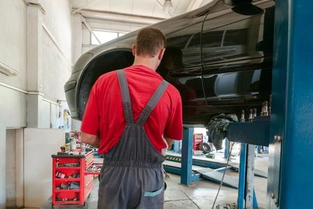 Maintenance of cars - tools, materials, equipment  Stock Photo - 14962638