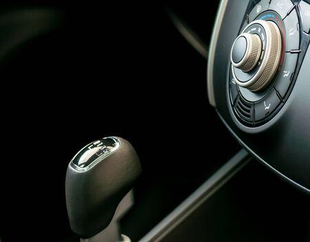 Luxury and modern car interior, close-up