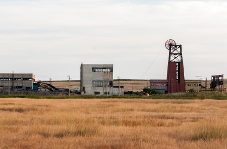 View of the old coal mine photo