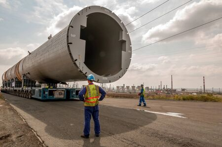 catalytic: Hydrocracking mega installation. Stock Photo