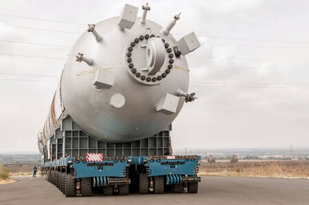 catalytic: Hydrocracking mega installation. Stock Photo