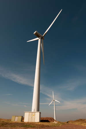 Wind generator working on the field. Stock Photo - 15771654