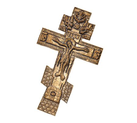 Cross with crucified Jesus Christ