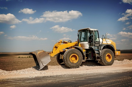bagger: Support activities for the construction of roads and highways  Road under construction