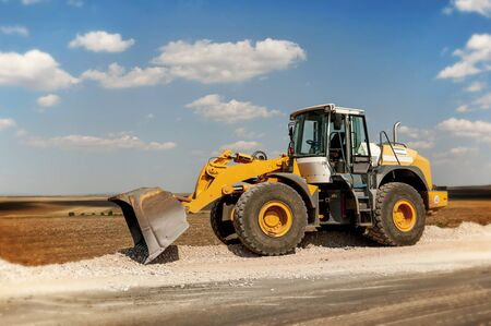 bagger: Construction and repair of roads and highways  Support activities for the construction of roads and highways  Road under construction