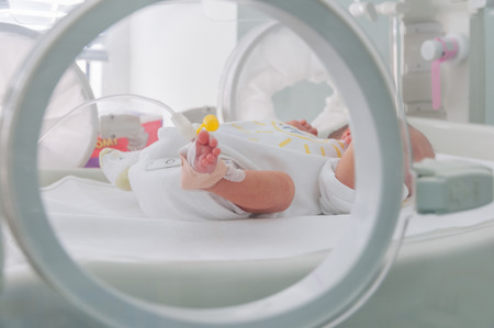 Newborn baby in hospital. Banque d'images