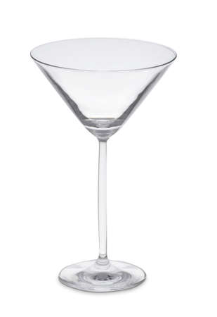 martini glass: Empty martini glass Stock Photo