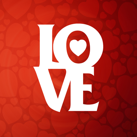 love: OVE Happy Valentines day card