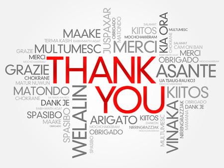 te negro: Gracias Nube de la palabra de vectores de fondo, todos los idiomas