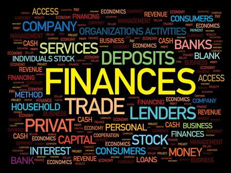 lending: Finances word cloud, business concept