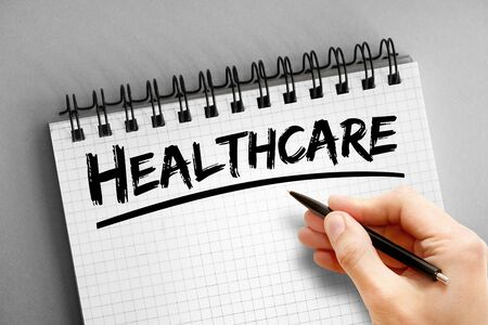 Text note - Healthcare, health concept on notepad
