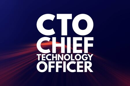 CTO - Chief Technology Officer acronym, business concept background
