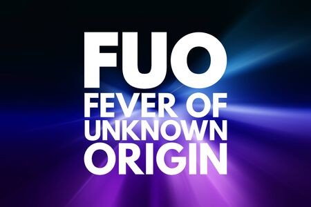 FUO - Fever of Unknown Origin acronym, concept background Фото со стока