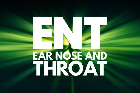 ENT - Ear Nose and Throat acronym, concept background