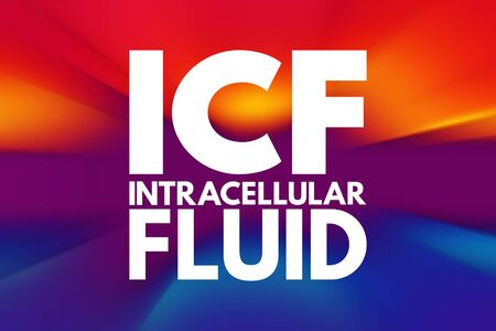 ICF - intracellular fluid acronym, medical concept background Фото со стока