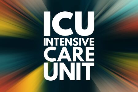 ICU - Intensive Care Unit acronym, medical concept background