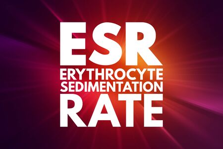 ESR - Erythrocyte Sedimentation Rate acronym, concept background Фото со стока