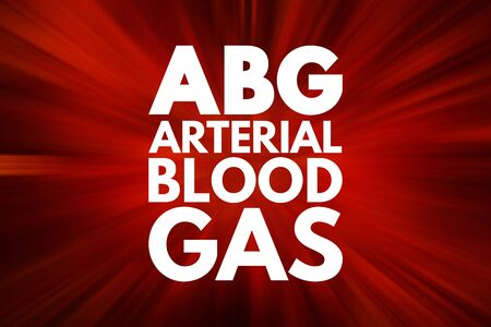 ABG - Arterial Blood Gas acronym, medical concept background