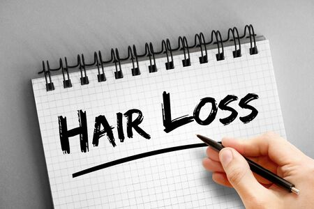 Hair Loss text, health concept background