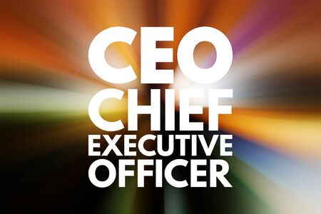 CEO – Chief executive officer acronym, business concept background Banco de Imagens