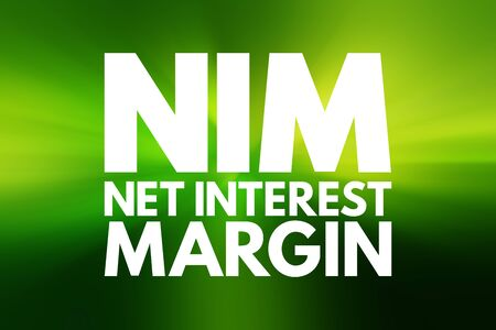 NIM - Net Interest Margin acronym, business concept background