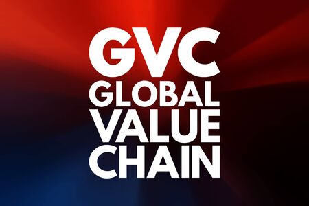 GVC - Global Value Chain acronym, business concept background Stock Photo