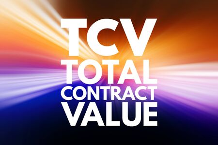 TCV - Total Contract Value acronym, business concept background
