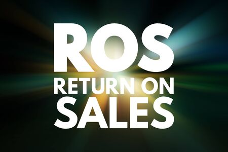 ROS - Return On Sales acronym, business concept background