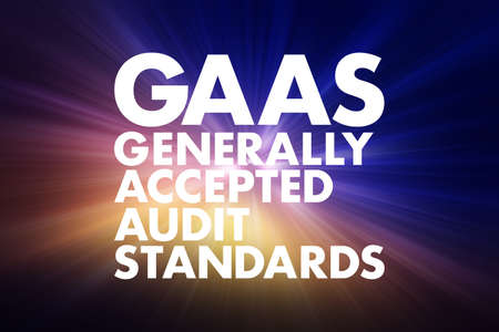 GAAS - Generally Accepted Audit Standards acronym, business concept background 写真素材