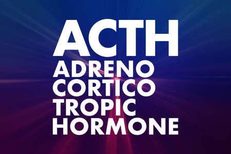 ACTH - Adrenocorticotropic hormone acronym, medical concept background