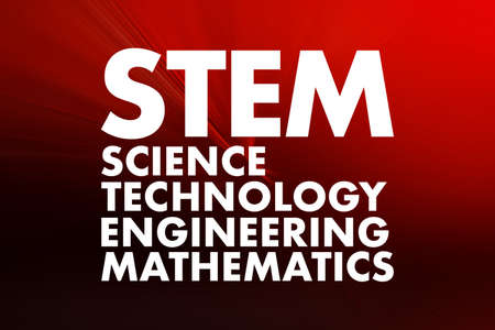 STEM - Science, Technology, Engineering, Mathematics acronym, education concept background 스톡 콘텐츠