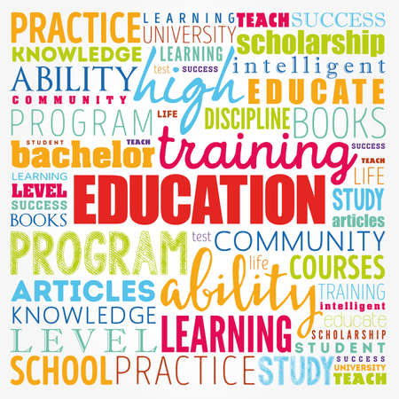 EDUCATION word cloud collage, concept background 免版税图像