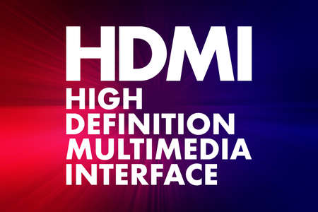 HDMI - High Definition Multimedia Interface acronym, technology concept background