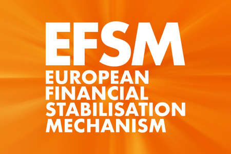 EFSM - European Financial Stabilisation Mechanism acronym, business concept background Stock fotó