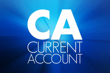 CA - Current Account acronym, business concept background 写真素材