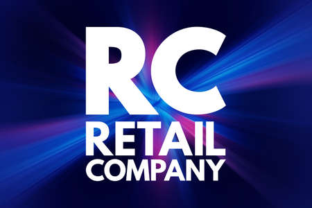 RC - Retail Company acronym, business concept background 写真素材