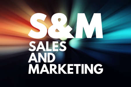 S&M - Sales and Marketing acronym, business concept background