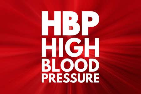 HBP - High Blood Pressure acronym, health concept background