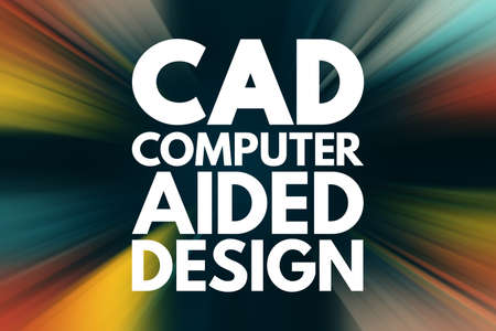 CAD - Computer Aided Design acronym, technology concept background 写真素材