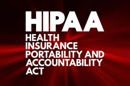 HIPAA - Health Insurance Portability and Accountability Act acronym, concept background