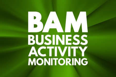 BAM - Business Activity Monitoring acronym, concept background 写真素材