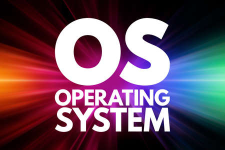 OS - Operating System acronym, business concept background